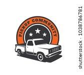 pick up truck car vector logo... | Shutterstock .eps vector #1038786781