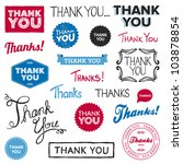 set of various drawn and... | Shutterstock .eps vector #103878854