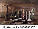 Gavel  Wooden Desk  Books ...