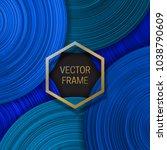 volumetric frame on saturated... | Shutterstock .eps vector #1038790609