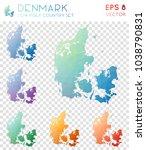 denmark geometric polygonal ... | Shutterstock .eps vector #1038790831