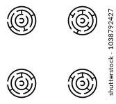 maze icon set | Shutterstock .eps vector #1038792427