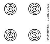 maze icon set | Shutterstock .eps vector #1038792439