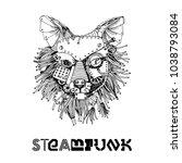 steampunk animals. hand drawin...   Shutterstock .eps vector #1038793084