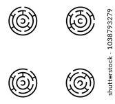 maze icon set | Shutterstock .eps vector #1038793279