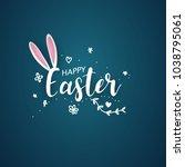 happy easter background. vector ...   Shutterstock .eps vector #1038795061