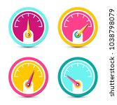 dashboard icons. vector fuel... | Shutterstock .eps vector #1038798079