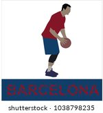 basketball player in color of... | Shutterstock .eps vector #1038798235