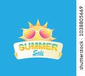 summer sale vector poster or... | Shutterstock .eps vector #1038805669