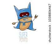 vector funny cartoon cute brown ...   Shutterstock .eps vector #1038806467
