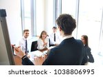 business conference... | Shutterstock . vector #1038806995
