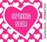 spring sale banner with... | Shutterstock .eps vector #1038807334