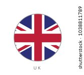 uk flag round circle vector icon | Shutterstock .eps vector #1038811789