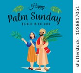 religion holiday palm sunday... | Shutterstock .eps vector #1038817051