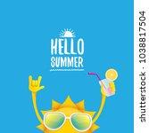 hello summer rock n roll vector ... | Shutterstock .eps vector #1038817504