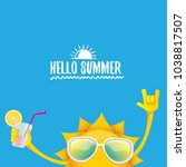 hello summer rock n roll vector ... | Shutterstock .eps vector #1038817507