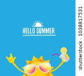 hello summer rock n roll vector ... | Shutterstock .eps vector #1038817531