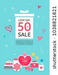 anniversary event popup | Shutterstock .eps vector #1038821821