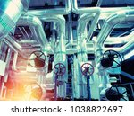 equipment  cables and piping as ... | Shutterstock . vector #1038822697