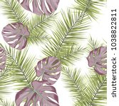 tropical seamless pattern with... | Shutterstock .eps vector #1038822811