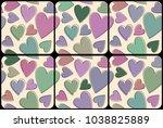 beautiful vector set of coaster ... | Shutterstock .eps vector #1038825889