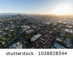 aerial sunrise view of downtown ... | Shutterstock . vector #1038828544