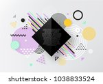 abstract geometric  background... | Shutterstock .eps vector #1038833524