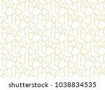 grid seamless pattern. gold...   Shutterstock . vector #1038834535