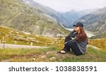 young woman tourist on a...   Shutterstock . vector #1038838591