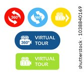vector buttons for virtual tour.... | Shutterstock .eps vector #1038840169