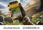 sport.tourism. gps navigator in ... | Shutterstock . vector #1038840814