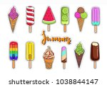 ice cream vector collection.... | Shutterstock .eps vector #1038844147
