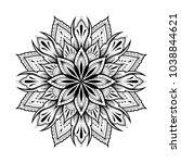 flower mandala. vintage... | Shutterstock .eps vector #1038844621