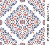 blue and orange ornamental... | Shutterstock .eps vector #1038847459