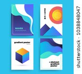 set of vector abstract... | Shutterstock .eps vector #1038848047