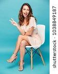 portrait of a happy beautiful... | Shutterstock . vector #1038849187