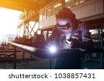 worker welder tic welding in...