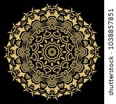 vector tattoo mandala.... | Shutterstock .eps vector #1038857851