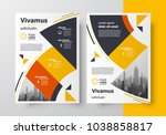 flyer brochure design template... | Shutterstock .eps vector #1038858817