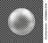 big transparent glass sphere... | Shutterstock .eps vector #1038861334