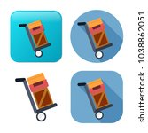 shipping inventory icon  ... | Shutterstock .eps vector #1038862051