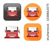 typewriter machine icon   type...