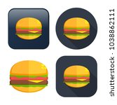 burger sandwich icon   fast... | Shutterstock .eps vector #1038862111