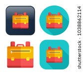 backpack icon   vector school... | Shutterstock .eps vector #1038862114