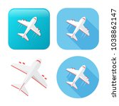 airplane icon   travel icon  ... | Shutterstock .eps vector #1038862147