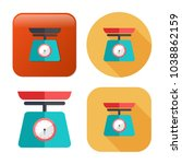vector weight scale icon  ... | Shutterstock .eps vector #1038862159
