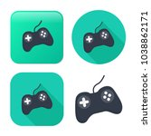 video game controller icon  ... | Shutterstock .eps vector #1038862171
