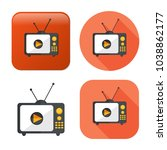 television screen icon   media... | Shutterstock .eps vector #1038862177