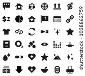 flat vector icon set   shining... | Shutterstock .eps vector #1038862759
