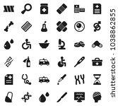 flat vector icon set   doctor... | Shutterstock .eps vector #1038862855